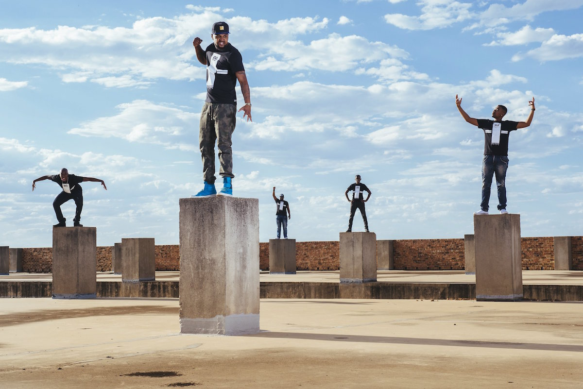 The Reptilez dance crew pose for a portrait in preparation for the Red Bull Beat Battle in Johannesburg, South Africa on November 08, 2015. // Wayne Reiche / Red Bull Content Pool // P-20151116-00436 // Usage for editorial use only // Please go to www.redbullcontentpool.com for further information. //