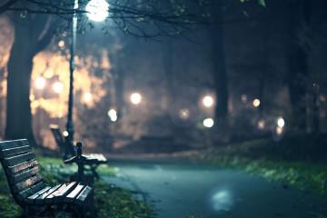 6929611-park-bench-at-night