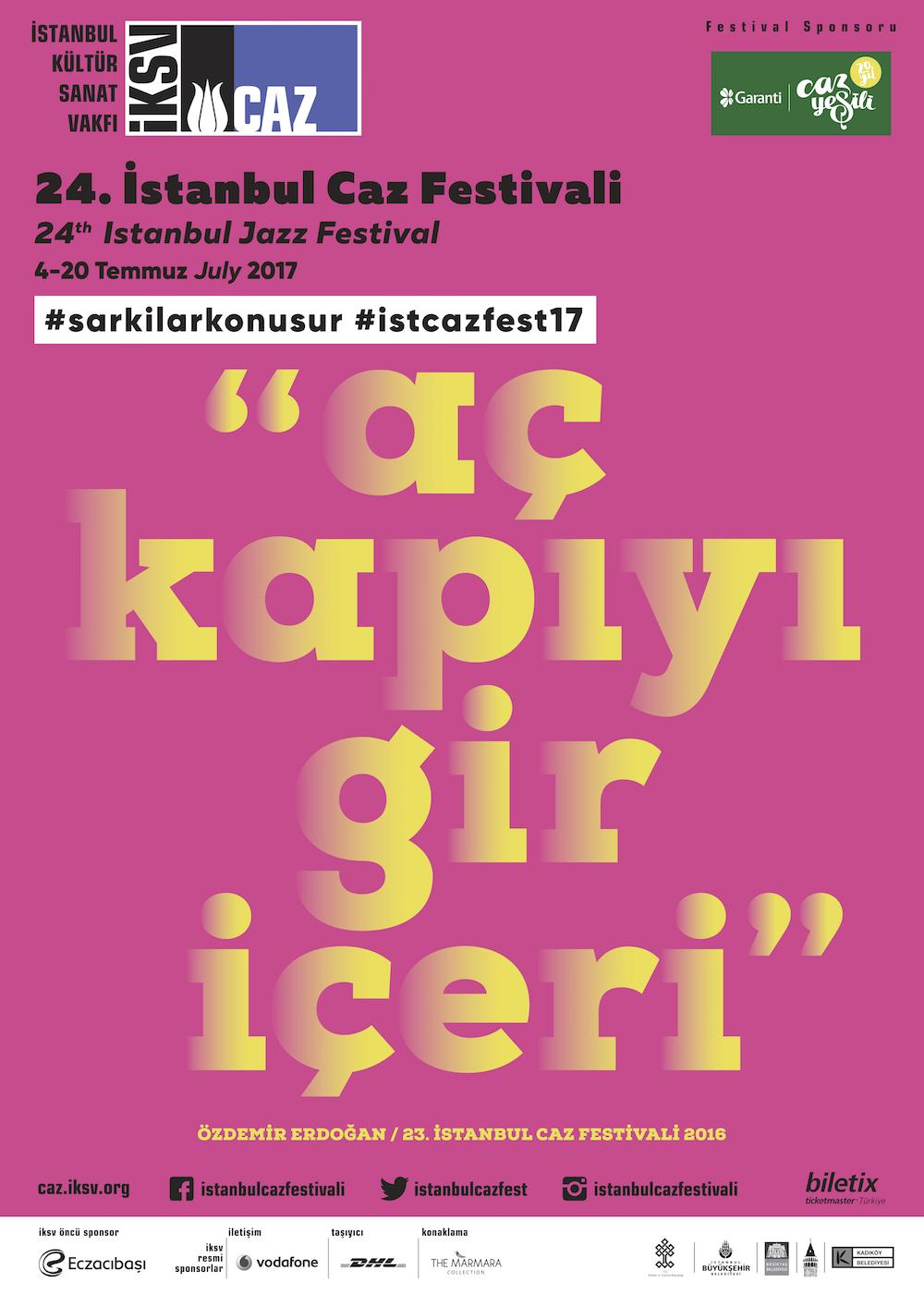24. İstanbul Caz Festivali Afiş